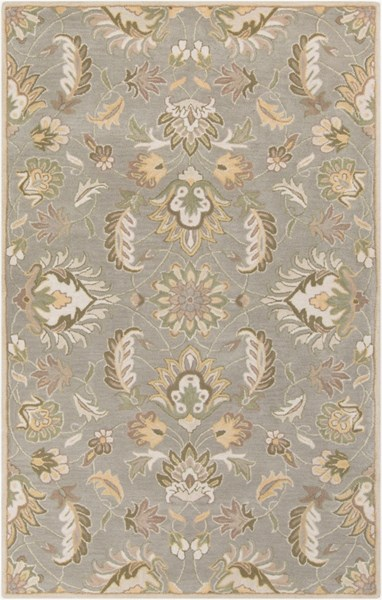 Caesar Traditional Moss Taupe Olive Fabric Area Rug (L 96 X W 60) CAE1140-58