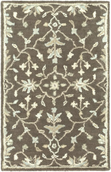 Caesar Traditional Chocolate Light Gray Beige Fabric Area Rugs 12824-VAR1