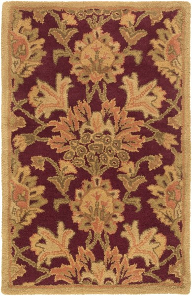 Caesar Traditional Eggplant Olive Moss Fabric Area Rugs 12915-VAR1