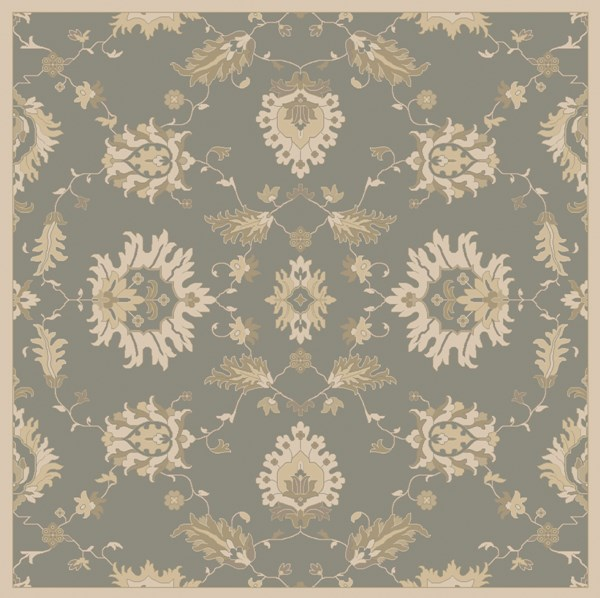 Caesar Ivory Olive Taupe Wool Square Area Rug - 8x8 CAE1156-8SQ