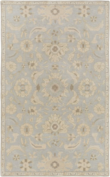 Caesar Slate Light Gray Olive Wool Area Rug - 60 x 96 CAE1162-58