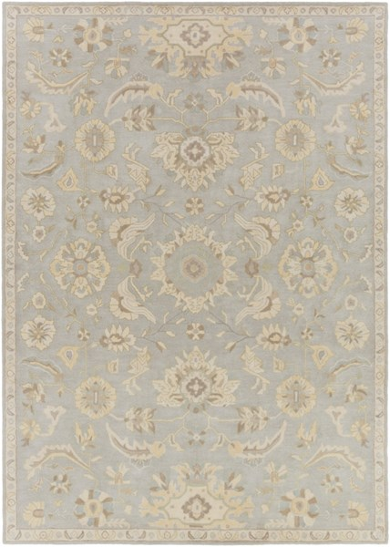 Caesar Slate Light Gray Olive Wool Area Rug - 96 x 132 CAE1162-811