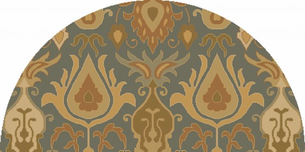Caesar Traditional Olive Beige Forest Fabric Area Rugs 13062-VAR1