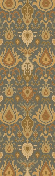 Caesar Traditional Olive Beige Forest Fabric Runner (L 96 X W 30) CAE1165-268