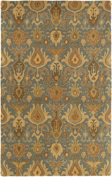 Caesar Traditional Olive Beige Forest Fabric Area Rug (L 96 X W 60) CAE1165-58