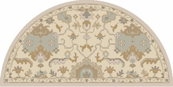Caesar Traditional Ivory Gold Olive Fabric Area Rugs 13063-VAR1