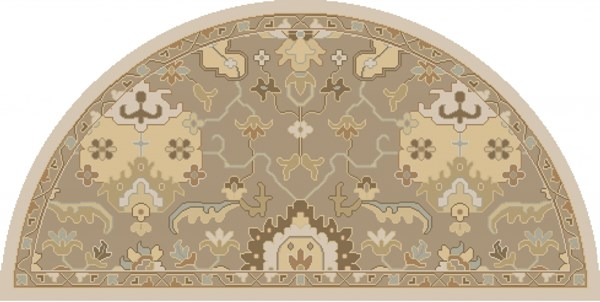 Caesar Traditional Olive Beige Forest Fabric Area Rug (L 48 X W 24) CAE1167-24HM