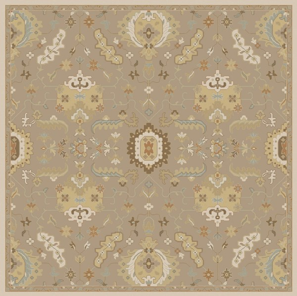 Caesar Olive Beige Forest Wool Square Area Rug - 8x8 CAE1167-8SQ