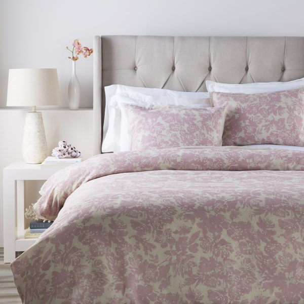 Clara Contemporary Rose Fabric Cotton Full/Queen Duvet (L 88 X W 92) CAL5001-FQ