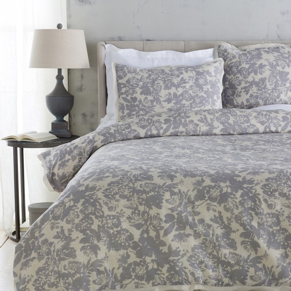 Clara Contemporary Slate Fabric Cotton Full/Queen Duvet (L 88 X W 92) CAL5002-FQ