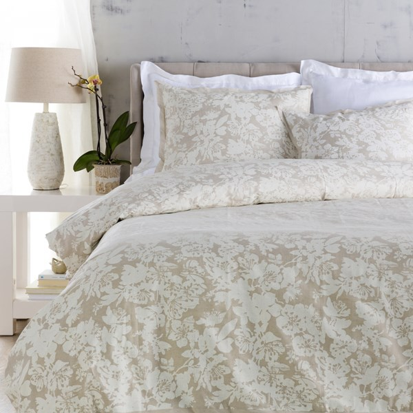 Clara Contemporary Ivory Fabric Cotton King Duvet (L 92 X W 108) CAL5005-K