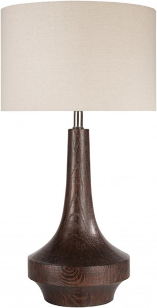 Carson Brown Wood Tone Resin Linen Table Lamp - 14x26 CALP-002