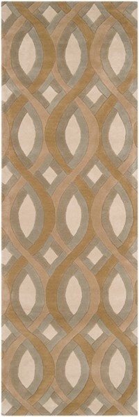 Modern Classics Contemporary Beige Olive Gray Wool Rugs 219-VAR2