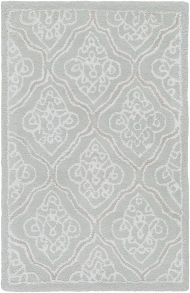 Modern Classics Contemporary Light Gray Ivory Lime Wool Rugs 220-VAR1