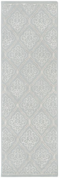 Modern Classics Contemporary Gray Ivory Wool Runner (L 96 X W 30) CAN1907-268