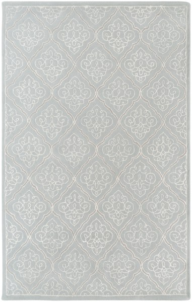 Modern Classics Contemporary Gray Ivory Wool Area Rug (L 96 X W 60) CAN1907-58
