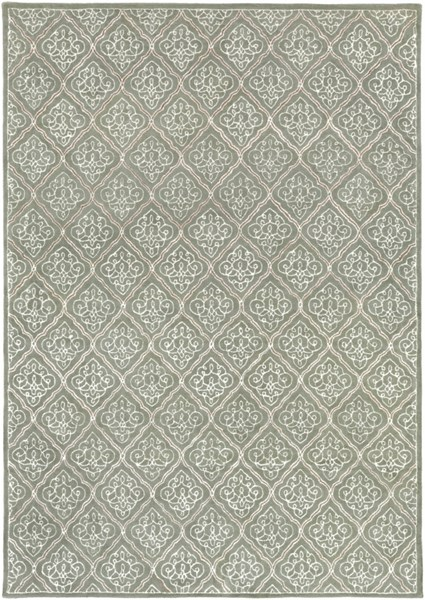 Modern Classics Light Gray Wool Area Rug (L 156 X W 108) CAN1907-913