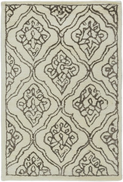 Modern Classics Beige Chocolate Wool Area Rug (L 36 X W 24) CAN1913-23