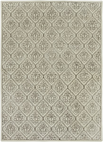 Modern Classics Beige Chocolate Wool Area Rug (L 132 X W 96) CAN1913-811