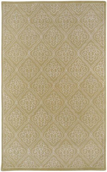Modern Classics Contemporary Lime Beige Wool Area Rug (L 96 X W 60) CAN1914-58