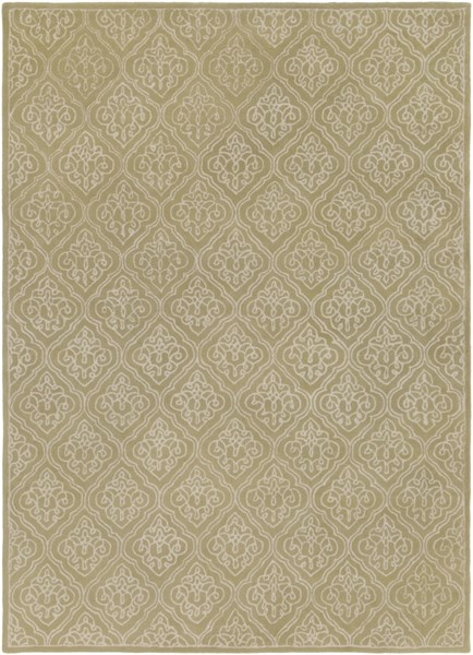 Modern Classics Contemporary Lime Beige Wool Area Rug (L 132 X W 96) CAN1914-811