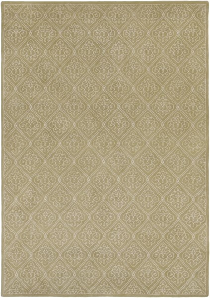 Modern Classics Contemporary Lime Beige Wool Area Rug (L 156 X W 108) CAN1914-913