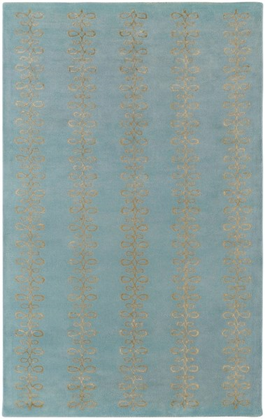 Modern Classics Contemporary Slate Tan Wool Area Rug (L 96 X W 60) CAN1915-58