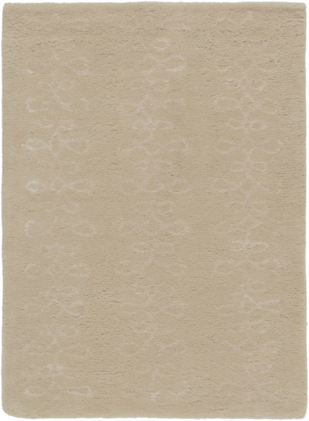 Modern Classics Contemporary Taupe Wool Area Rug (L 36 X W 24) CAN1916-23