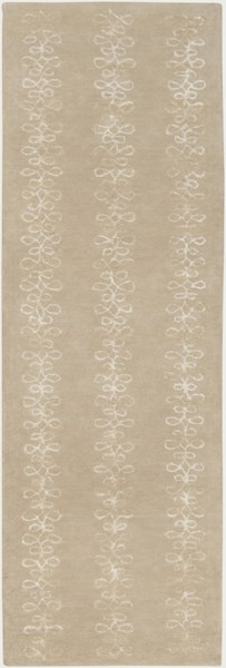 Modern Classics Taupe Wool Runner (L 96 X W 30) CAN1916-268