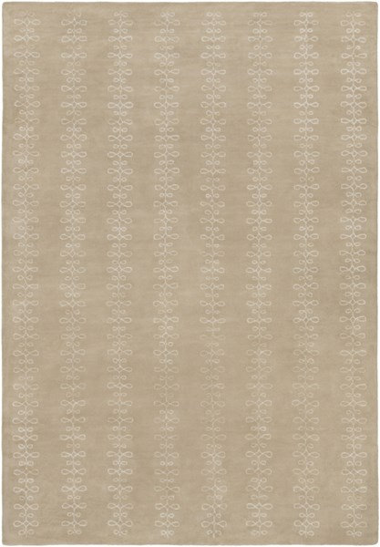 Modern Classics Taupe Wool Area Rug (L 156 X W 108) CAN1916-913