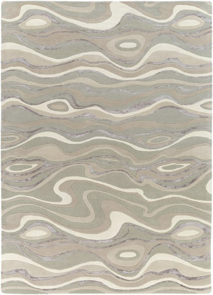 Surya Modern Classics Taupe Cream Camel Viscose Area Rug - 132x96 CAN1927-811