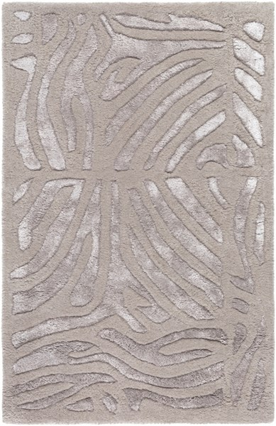 Modern Classics Glam Taupe Light Gray Wool Area Rug (L 36 X W 24) CAN1934-23