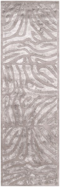 Modern Classics Glam Taupe Light Gray Wool Runner (L 96 X W 30) CAN1934-268