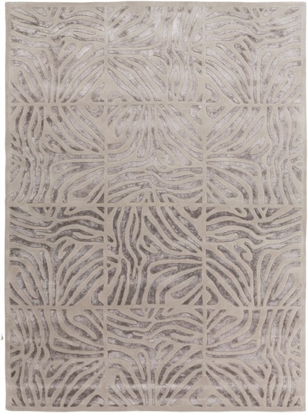 Modern Classics Glam Taupe Light Gray Wool Area Rug (L 132 X W 96) CAN1934-811