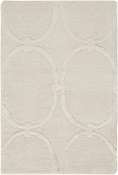 Modern Classics Contemporary Ivory Taupe Beige Wool Rugs 412-VAR1