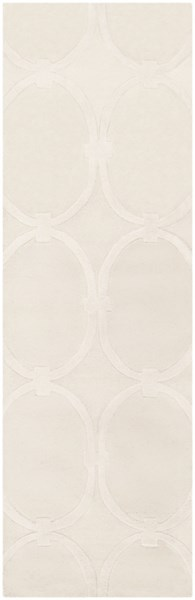 Modern Classics Contemporary Ivory Wool Runner (L 96 X W 30) CAN1988-268