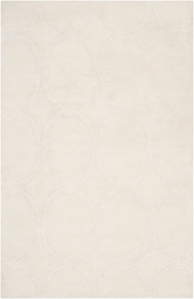 Modern Classics Contemporary Ivory Wool Area Rug (L 96 X W 60) CAN1988-58