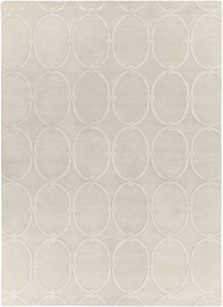 Modern Classics Contemporary Ivory Wool Area Rug (L 132 X W 96) CAN1988-811