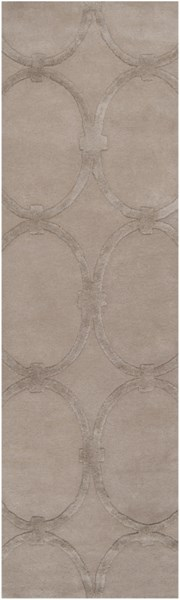 Modern Classics Contemporary Taupe Wool Runner (L 96 X W 30) CAN1989-268