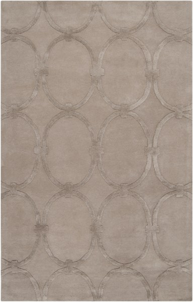 Modern Classics Contemporary Taupe Wool Area Rug (L 96 X W 60) CAN1989-58