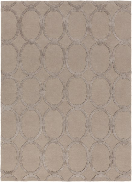 Modern Classics Contemporary Taupe Wool Area Rug (L 132 X W 96) CAN1989-811