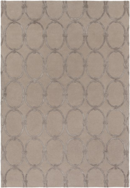 Modern Classics Contemporary Taupe Wool Area Rug (L 156 X W 108) CAN1989-913