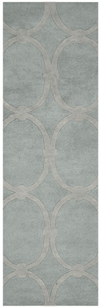 Modern Classics Contemporary Gray Wool Runner (L 96 X W 30) CAN1990-268