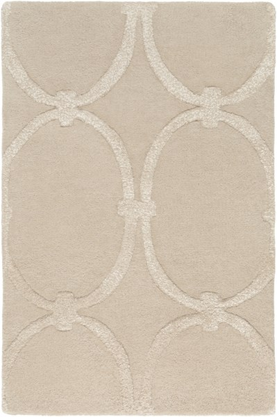 Modern Classics Contemporary Beige Wool Area Rug (L 36 X W 24) CAN1991-23