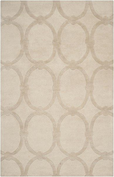 Modern Classics Contemporary Beige Wool Area Rug (L 96 X W 60) CAN1991-58