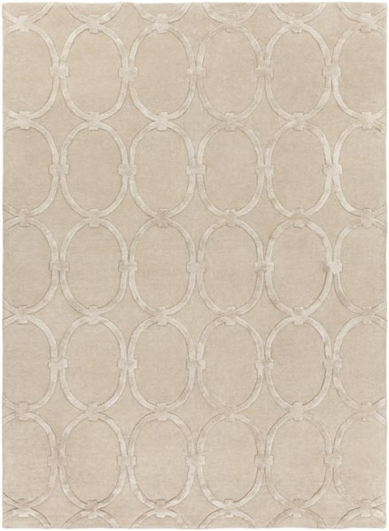 Modern Classics Contemporary Beige Wool Area Rug (L 132 X W 96) CAN1991-811