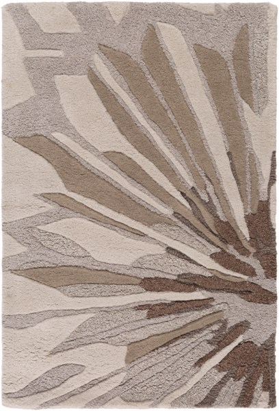 Modern Classics Light Gray Taupe Wool Area Rug (L 36 X W 24) CAN1992-23