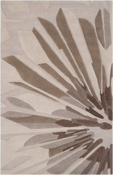 Modern Classics Light Gray Taupe New Zealand Wool Area Rug - 60 x 96 CAN1992-58