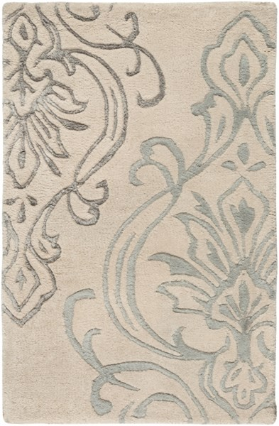 Modern Classics Contemporary Ivory Gray Wool Area Rug (L 36 X W 24) CAN2010-23