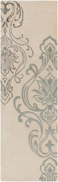 Modern Classics Contemporary Ivory Gray Wool Runner (L 96 X W 30) CAN2010-268